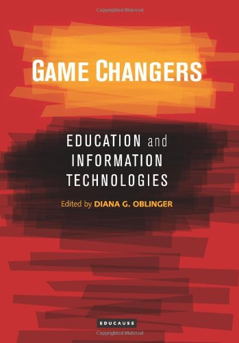Large book cover: Game Changers: Education and Information Technologies