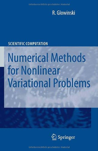Large book cover: Lectures on Numerical Methods for Non-Linear Variational Problems