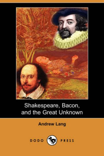Large book cover: Shakespeare, Bacon and the Great Unknown