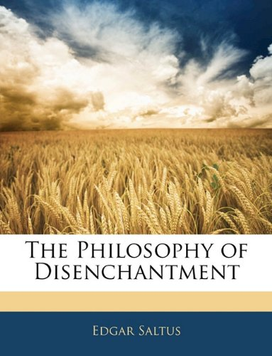 Large book cover: The Philosophy of Disenchantment