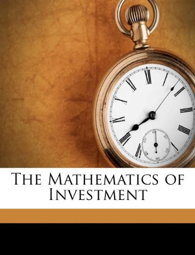 Large book cover: The Mathematics of Investment
