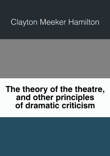 Large book cover: The Theory of the Theatre