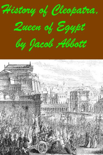 Large book cover: History of Cleopatra, Queen of Egypt