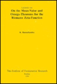 Large book cover: Lectures on the Mean-Value and Omega Theorems for the Riemann Zeta-Function