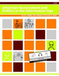 Large book cover: American Government and Politics in the Information Age
