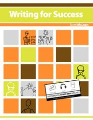 Large book cover: Writing for Success