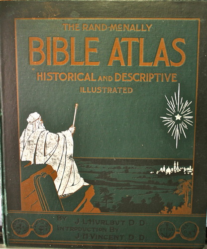Large book cover: The Rand-McNally Bible Atlas