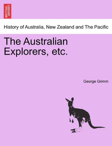 Large book cover: The Australian Explorers