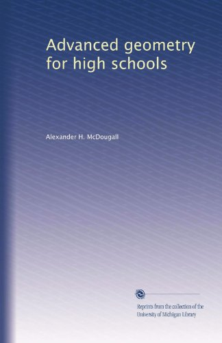 Large book cover: Advanced Geometry for High Schools: Synthetic and Analytical