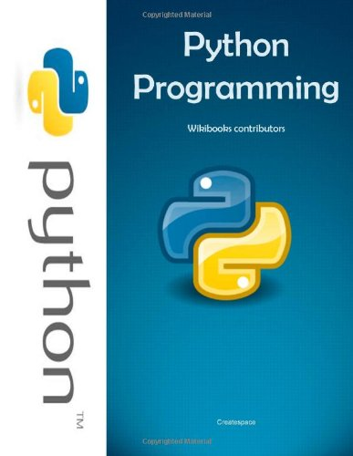 Large book cover: Python Programming