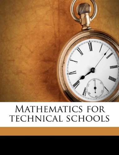 Large book cover: Mathematics for Technical Schools