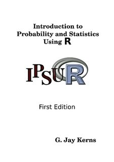 Large book cover: Introduction to Probability and Statistics Using R