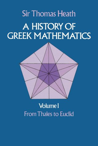 Large book cover: A History of Greek Mathematics