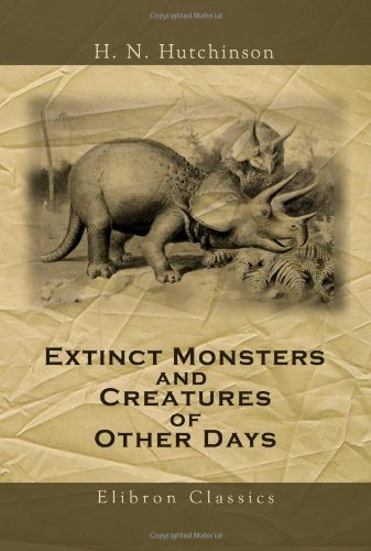Large book cover: Extinct Monsters
