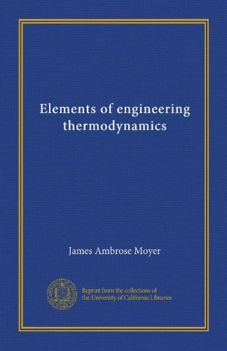 Large book cover: Elements of Engineering Thermodynamics