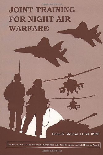 Large book cover: Joint Training for Night Air Warfare
