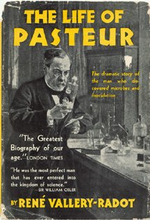 Large book cover: The Life of Pasteur