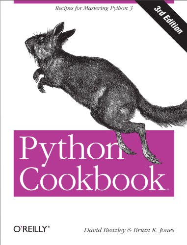 Large book cover: Python Cookbook