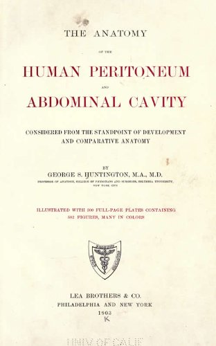 Large book cover: The Anatomy of the Human Peritoneum and Abdominal Cavity