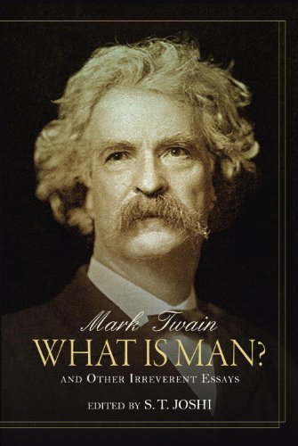 Large book cover: What is Man?