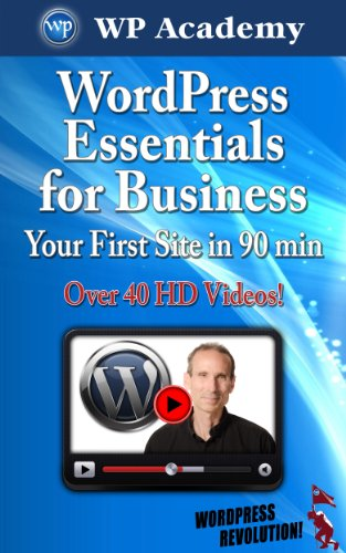 Large book cover: WordPress Essentials for Business