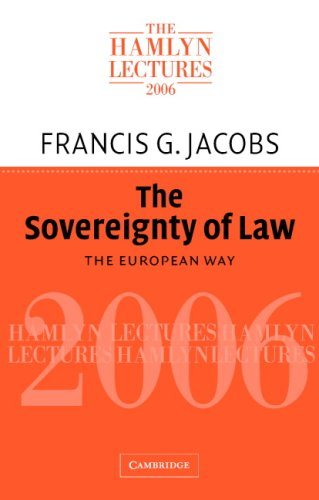 Large book cover: The Sovereignty of Law: The European Way