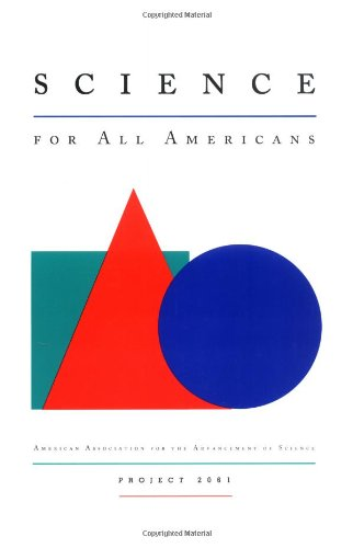Large book cover: Science for All Americans
