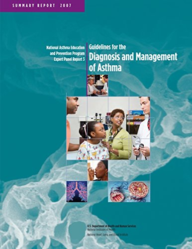 Large book cover: Guidelines for the diagnosis and management of asthma