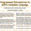 Book cover: Programmed Introduction to MIPS Assembly Language