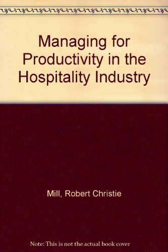 Large book cover: Managing for Productivity in the Hospitality Industry
