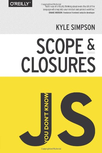 Large book cover: You Don't Know JS: Scope and Closures