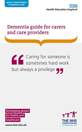 Large book cover: Dementia guide for Carers and Care Providers