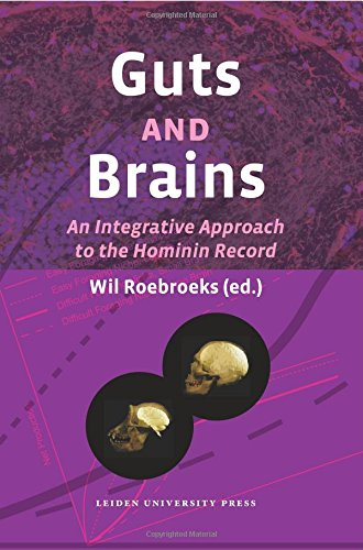 Large book cover: Guts and Brains: An Integrative Approach to the Hominin Record