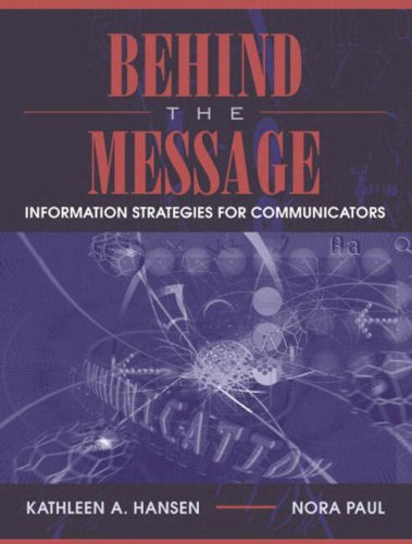 Large book cover: Information Strategies for Communicators