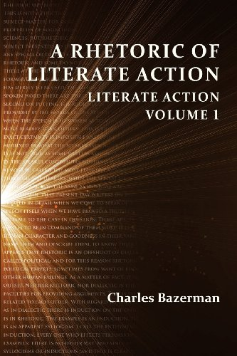 Large book cover: A Rhetoric of Literate Action: Literate Action Volume 1