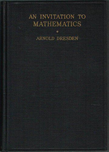 Large book cover: An Invitation to Mathematics