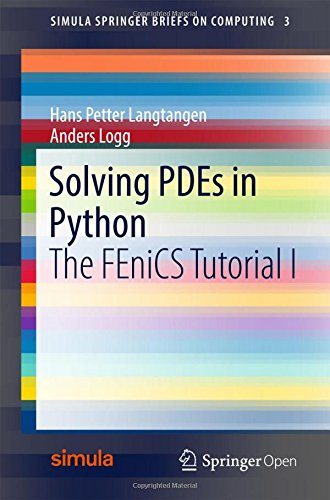 Large book cover: Solving PDEs in Python