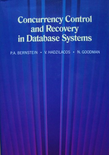 Large book cover: Concurrency Control and Recovery in Database Systems