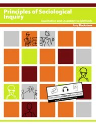 Large book cover: Principles of Sociological Inquiry