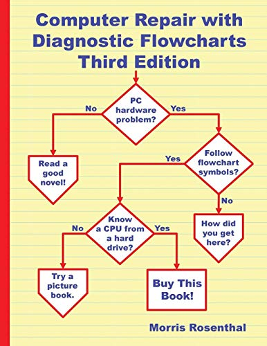 Large book cover: Computer Repair with Diagnostic Flowcharts