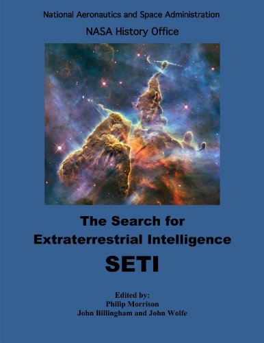 Large book cover: The Search for Extraterrestrial Intelligence, SETI