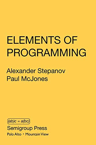 Large book cover: Elements of Programming