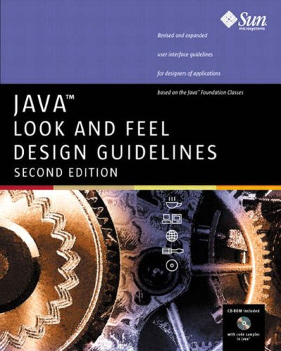 Large book cover: Java Look and Feel Design Guidelines, 2nd Edition