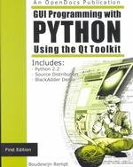 Large book cover: GUI Programming with Python: QT Edition