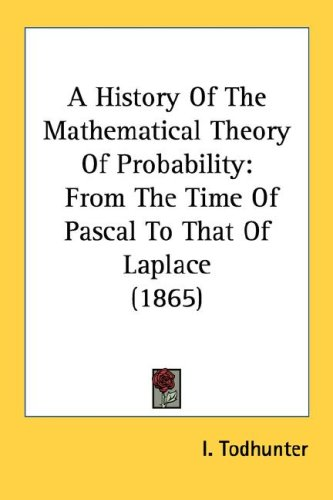 Large book cover: A History Of The Mathematical Theory Of Probability