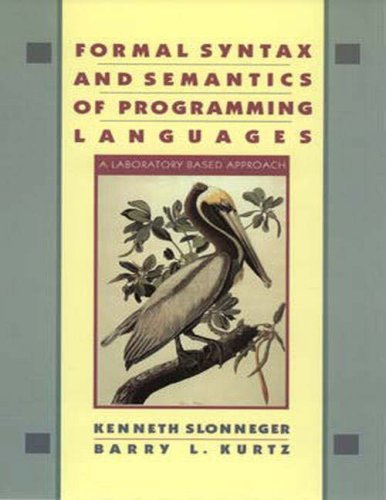 Large book cover: Formal Syntax and Semantics of Programming Languages