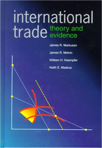 Large book cover: International Trade: Theory and Evidence