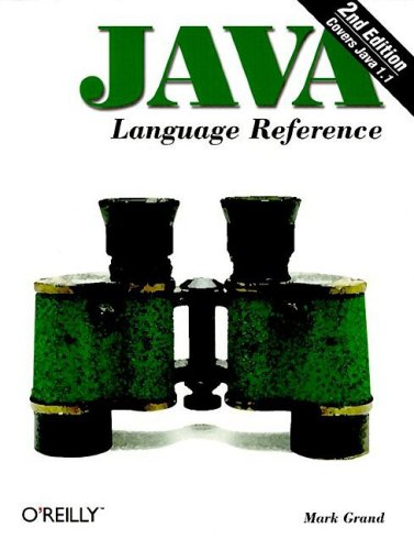 Large book cover: Java Language Reference