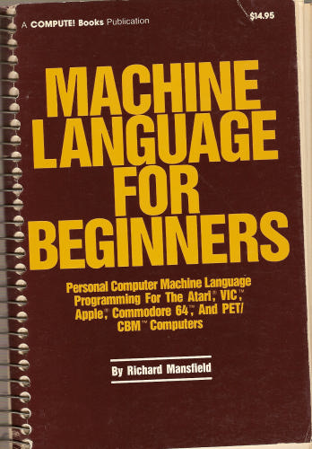 Large book cover: Machine Language for Beginners