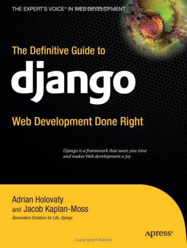 Large book cover: The Definitive Guide to Django